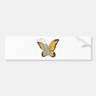 Happy Monarch Butterfly Bumper Sticker