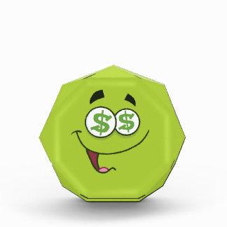 Happy Money Emoji Acrylic Award