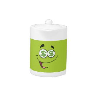 Happy Money Emoji Teapot