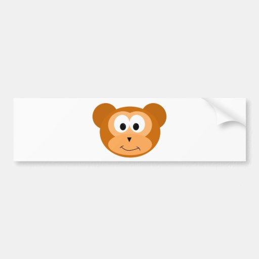 Happy Monkey Bumper Sticker