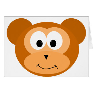 Happy Monkey Card