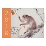 Happy Monkey Chinese New Year 2016 Japanese P Card
