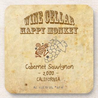 Happy Monkey Cork Coaster! Beverage Coaster