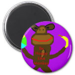 happy Monkey Magnet