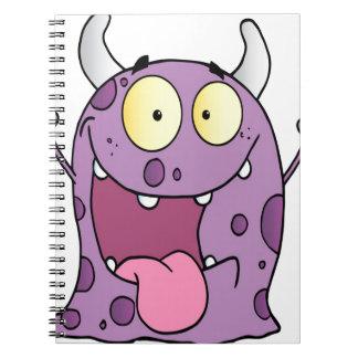 Happy Monster Cartoon Character Notebooks