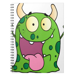 Happy Monster Cartoon Character Spiral Note Books