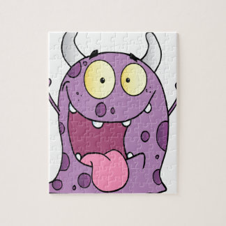 Happy Monster Cartoon Character Jigsaw Puzzles
