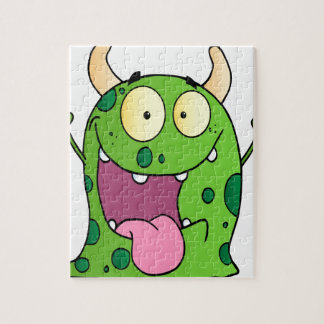 Happy Monster Cartoon Character Puzzle