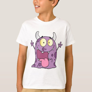 Happy Monster Cartoon Character T-Shirt