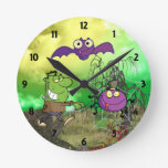 Happy Monster Childrens Learning Wall Clock