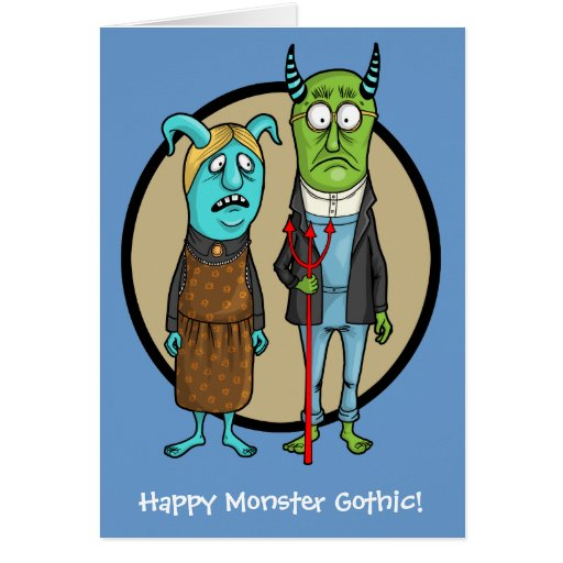 Happy Monster Gothic Card