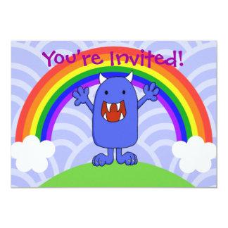 "Happy Monster Invitation 5"" X 7"" Invitation Card"