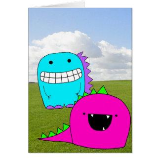 Happy Monster Playdate card