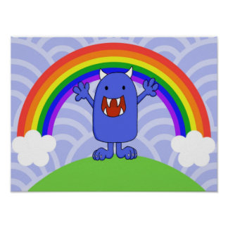 Happy Monster Poster