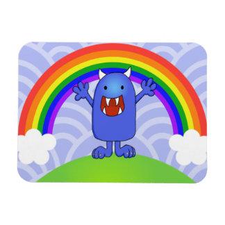 Happy Monster Rectangular Photo Magnet