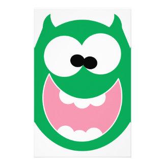Happy Monster Stationery