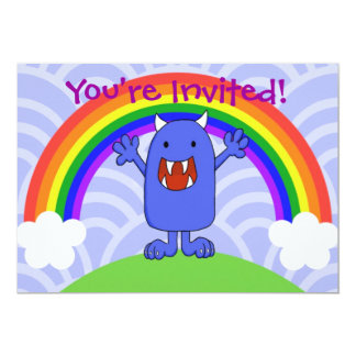 Happy Monster, You're Invited! 5x7 Paper Invitation Card