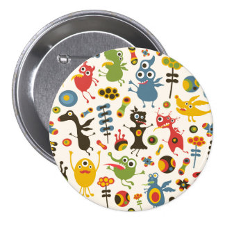 Happy Monsters Button