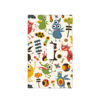 Happy Monsters Switch Plate Covers
