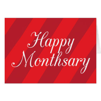 Happy Monthsary Greeting Card