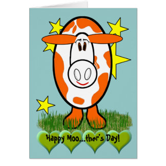 Happy Moo...ther's Day! - Customized Card