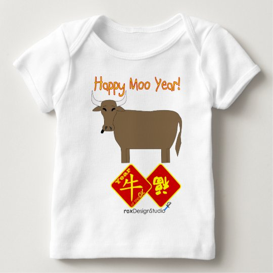 Happy Moo Year Baby T-Shirt