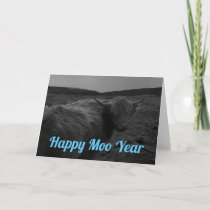 Happy Moo Year Greeting Card