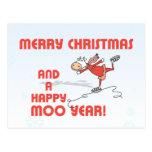 Happy Moo year Postcard