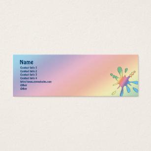 Mood business cards templates zazzle happy mood mini business card colourmoves Gallery