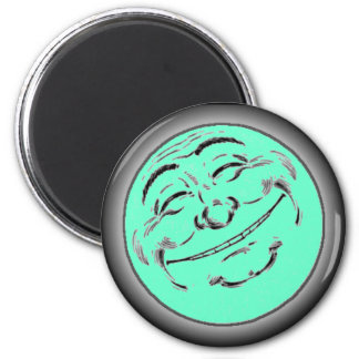 Happy Moon 2 Inch Round Magnet