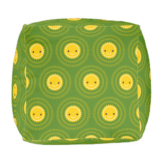 Happy Morning Pattern Art (Exclusive) Cube Pouf