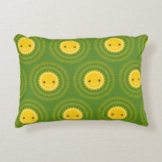 Happy Morning Pattern Art (Exclusive) Decorative Pillow