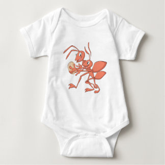 Happy Mother and Child Ant Playing Baby Bodysuit