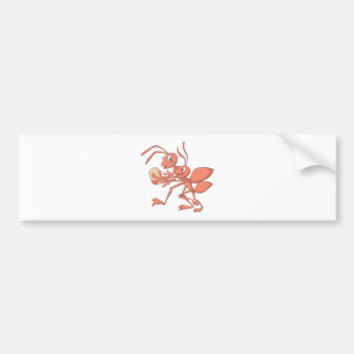 Happy Mother and Child Ant Playing Bumper Sticker
