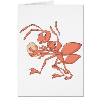 Happy Mother and Child Ant Playing Card