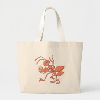 Happy Mother and Child Ant Playing Large Tote Bag