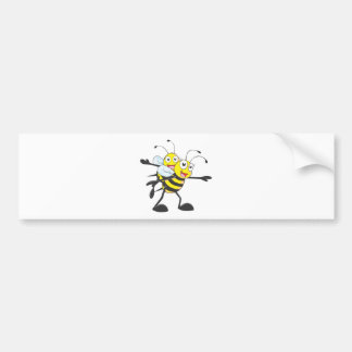 Happy Mother and Daughter Bee Having Fun Car Bumper Sticker