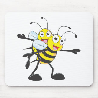 Happy Mother and Daughter Bee Having Fun Mouse Pad