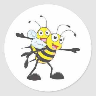 Happy Mother and Daughter Bee Having Fun Stickers