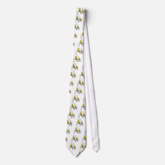 Happy Mother and Daughter Bee Walking Together Neck Tie