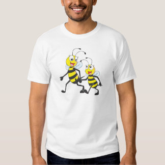 Happy Mother and Daughter Bee Walking Together Shirt