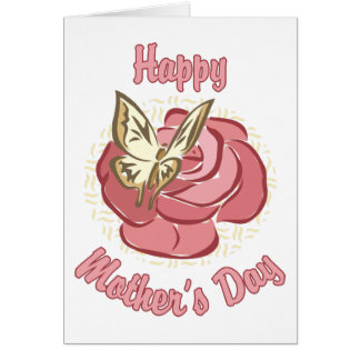 Happy Mother's Day Rose and Butterfly Card