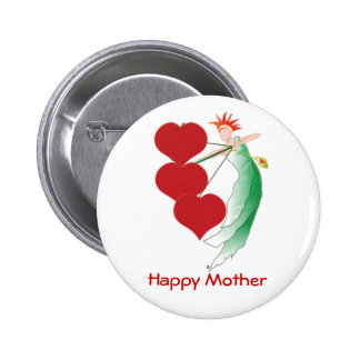 Happy Mother Button