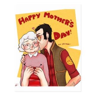 Happy Mother Day Series 3 Postcard