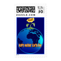Happy Mother Earth Day Postage