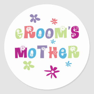 Happy Mother of the Groom Gift Classic Round Sticker