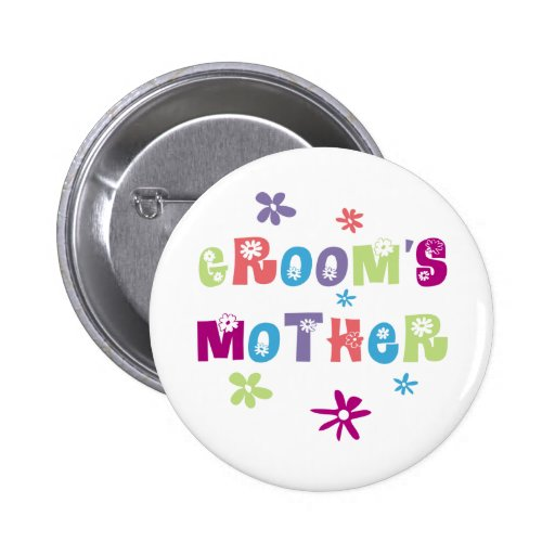 Happy Mother of the Groom Gift Pinback Button