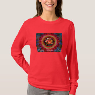 Happy Mother's Day Flowers Ladies T-shirt