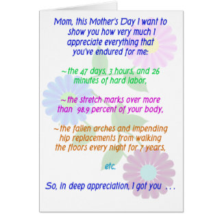 Happy Mother s Day for All You Endured Card