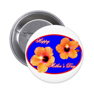 Happy Mother s Day Hibiscus Blue Red Oval The MUSE Pins